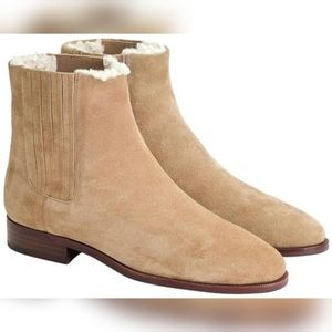 NWOT J. Crew Chelsea Sherpa Lined Suede Boot